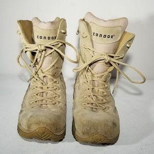 Condor Desert Tan Combat Boots - Size 10